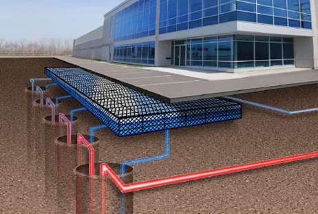 Commercial HVAC Geothermal heating and cooling systems